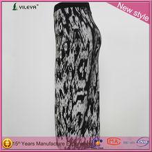2014 nuevo estilo de la moda de retazos de alta cintura falda larga modelos