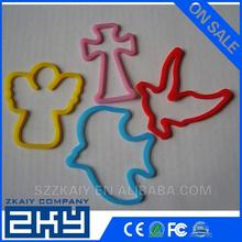 Custom shapes and colors promotion rubber band, silicone silly bands