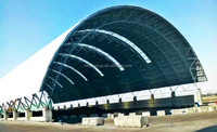 space frame steel dome coal shed