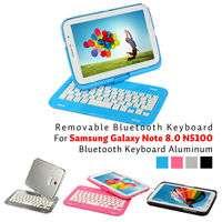 For Samsung Galaxy Note 8.0 N5100 bluetooth keyboard and (ABS key core + aluminum alloy shell)