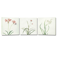 New Flower Canvas Printing Art/Simple Picture For Wall Hanging/3 Panel Canvas Painting Art
