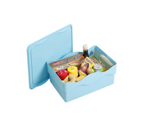 Plastic 9L Compartment Storage Box Storage Bins Containers with Wheels -Medium Size