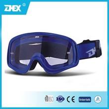 Singel color TPU frame PC lens racing motorcycle goggles