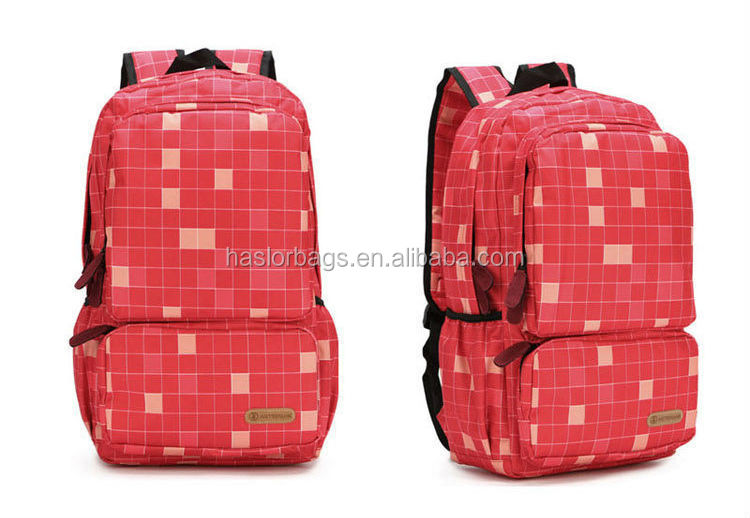 Hot vente belle motif de vérification des sacs d'école utilisé avec la chine usine