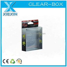 Clear plastic boxes for package