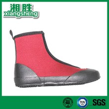 2015 New York black and red flat keel neoprene personality men rain boots with zipper