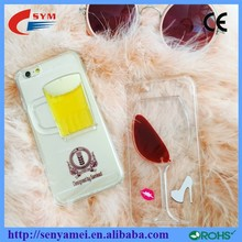 2015 Lastest Luxury Case For iPhone 6 and 6 Plus Back Cover 3D Red Wine Cup Design Mobile Phone Shell