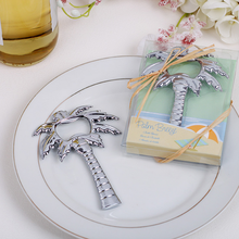 Wholesale creative designed stainless steel palm tree bottle opener Souvenirs Event and Party unique wedding gift box