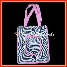 Zebra strip printing shopping bags