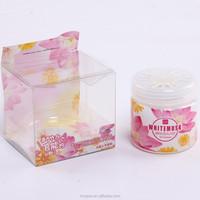New design! beautiful plastic box 80g solid aromatic/authentic fragrances air freshener
