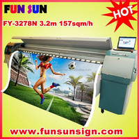 cheap Infiniti challenger FY-3278N 3.2m flex banner solvent printer price (8 510/50pl heads,fast speed up to157 sqm/h)