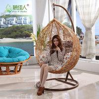 Real Natural Rattan Wicker Living Room Indoor Decorative Swing