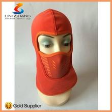 LINGSHANG high quality new polular wholesale design ski winter full face mask neck warmer for outdoor hat