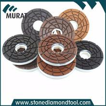 Snail Lock 50 grit Wet Diamond Edge Polishing Pads For Marble