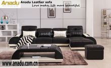 anadu furniture modern leather sectional sofa