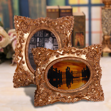 2015 resin luxury abstract picture frame high end gold stereoscopic 4x6 5x7 european angel resin sex girl adjustable foto frame
