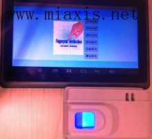 punch card attendance machine with FTP601 Tablet PC with optical Fingerprint reader FPR622