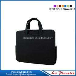 Custom printing neoprene laptop sleeve,15.6 inch zippered laptop bag