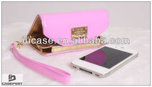 Hot Selling Ladies Wristlet Purse Wallet Case for iPhone 5/5S/5C- Pink