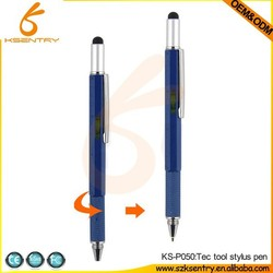 5 in 1 gradienter touch pen,Construction Tool Pen,tech tool ballpoint pen with gradienter,ruler,screw driver tech tool pen