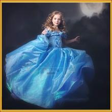 Nueva llegada de verano caliente venta de moda de diseño de la flor niñas vestido estampado 1-6 años niña vestido hermoso vestido de cenicienta