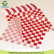"""15""""x15"""" red&white check hamburger wrapping paper"""