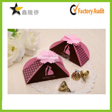 2015 Unique custom irregular mini bride and groom wedding favor box