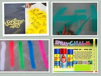 Water removable spray chalk,washable chalk spray paint for marking ,drawing,decoration