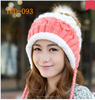 2015 HOT SALE winter warm beanie with earflaps best for girls