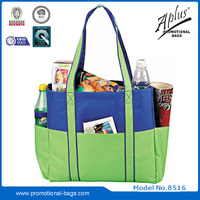 shopping bag with two side open pocket 8516#