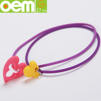 fashion make thin silicone rubber bracelet