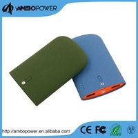 2015 new products waterproof portable solar power bank 6600mah