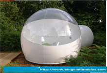 hot transparent inflatable lawn bubble tent, bubble tree inflatable camping tent 4m