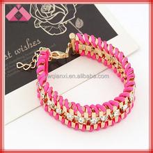 Europe and America Fashion Alloy Personalized Braided Diamond Bangles-BG15107