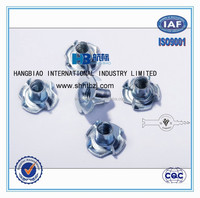 DIN1624 Tee Nuts White Blue Zinc Plated