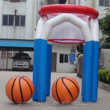 China PVC inflatable basketball hoop for adult and children 02