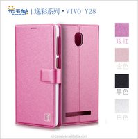 Fashion Silk patterns wallet for vivo y28 flip case cover for vivo y28 mobile phone cover