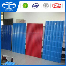 plastic corrugated type lightweight roof material