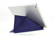 Hot sale leather cover for iPad Air/iPad 5 foldable stand function case