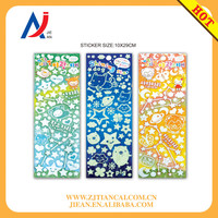 Decoration Moon and Stars paper Wall Stickers Ceiling Glow in the dark sticker