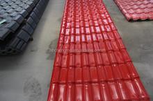 Non-flammable ASA spanish PVC roof tile/ synthetic resin tile/ spanish tile