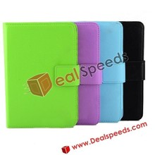 Hot Sale Glossy Lichee Texture PU Leather Case+Bluetooth Keyboard cover for iPad Mini