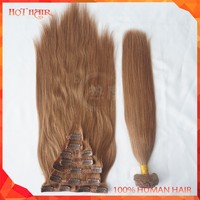 7A Malaysian Remy Wholesale Human Hair Weaving Honey Brown Virgin Malaysian Straight Clip-in Human Hair Extension Malaysian Hair