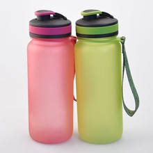 BPA free high quality water bottle, colorful portable drinking bottle sport products