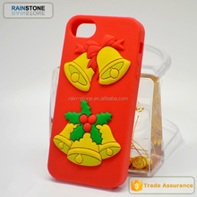 2015 Christmas gift 3D rubber silicone phone case for iphone 6