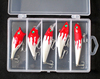 Hard Plastic Lures Minnow, VIB, Popper, Crankbait, Pencil 5 PCS Painted Hard Baits Assorted Lure Box