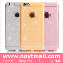 Cheap Ultrathin Mobile Case for iphone 6, Glitter Mobile Phone Case Cover TPU Wholesale