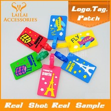 More than 10+ designs, Fancy funny 3D wholesale hard plastic luggage tag with various styles