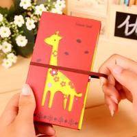 Cartoon giraffe deer notebook with pen for Kids