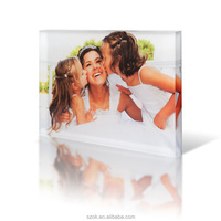 2014 new invention engraved clear acrylic photo blocks display wholesale